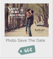 Photo Save the Date, 56 Cents