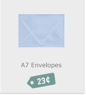 A7 Envelopes, 23 Cents