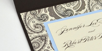 Close Up Image of Mounted Invitation