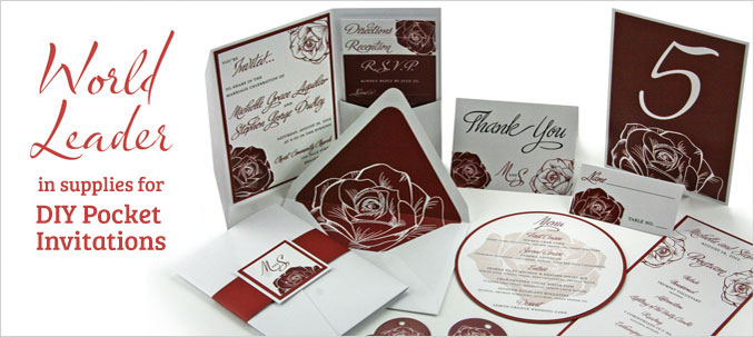World Leader in supplies for DIY Pocket Invitations