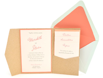 Signature Pocket Invitation with Envelope