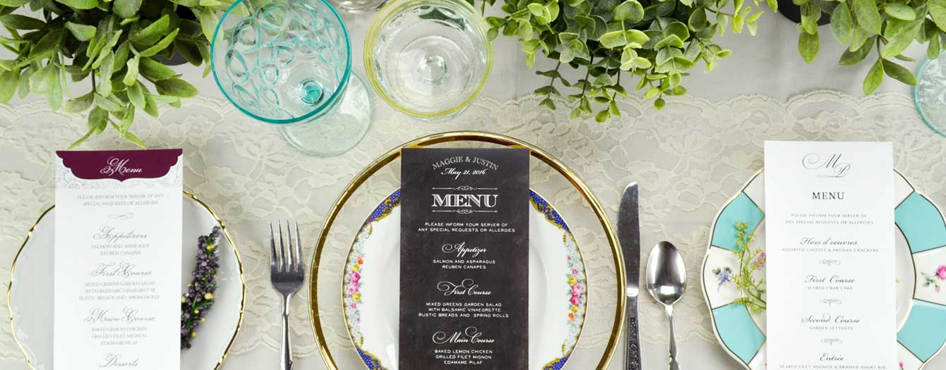 Image of Wedding Menus