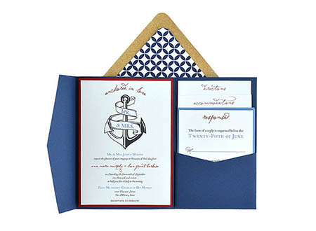 Anchored In Love Free Wedding Invitation X Template Suite - Free 5x7 invitation template