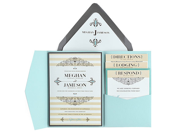 Embellished - Free Wedding Invitation 5X7 Template Suite