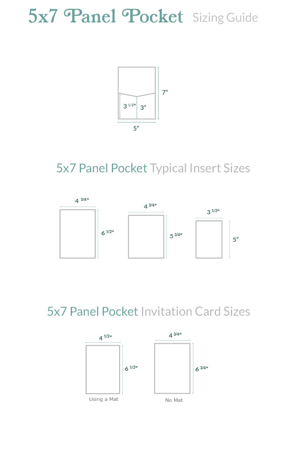 Invitation size guide 5x7 panel pocket cards pockets products that fit this card size stopboris