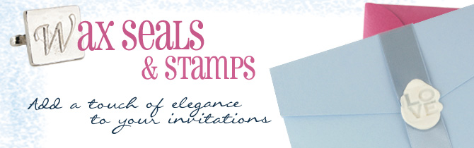 wax seals and stamps, add a touch of elegance to your invitations