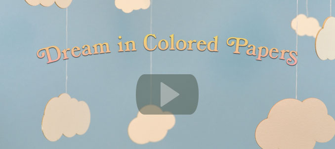 Dream in Colored Paper Banner Image