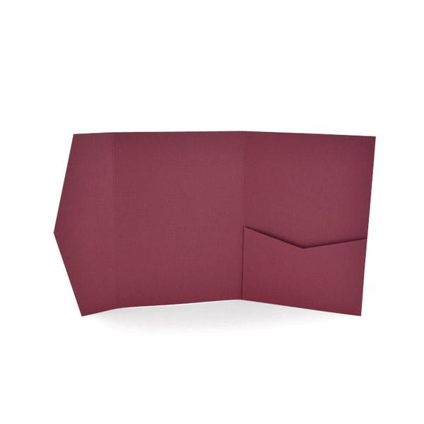 A2 Signature Pocket Invitation Burgundy – Pocket Invitation Card