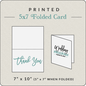 print your own design 5x7 folded card