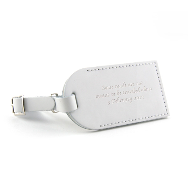 Leather Luggage Tag - Sample