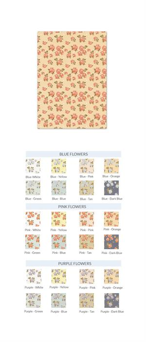 vintage flowers invitation card 5x7 panel card cards pockets