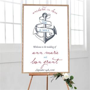 Wedding Welcome Anchored in Love