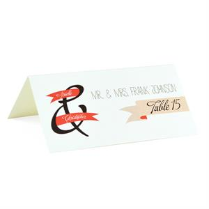 banner of love custom folded place cards 25 pack