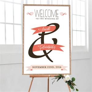 Wedding Welcome Banner of Love