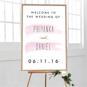 Wedding Welcome Brush Strokes