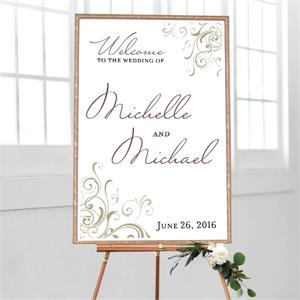 Wedding Welcome Corner Swirls