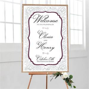 Wedding Welcome Elegant Floral