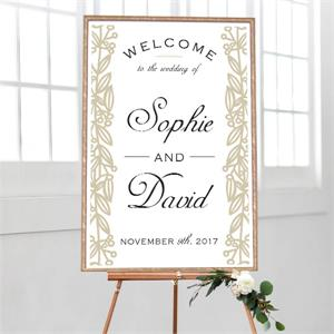 Wedding Welcome Golden Vines