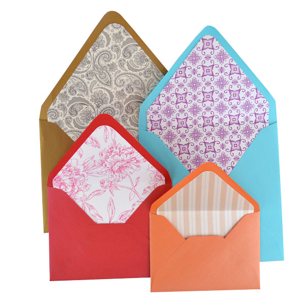 Euro Flap Pattern Lined Envelopes