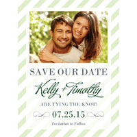 Candy Stripes Save the Date
