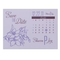 Apple Blossom Calendar Save the Date