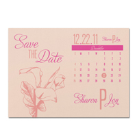 Calla Lily Calendar Save the Date