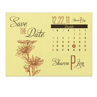 Daisy Calendar Save the Date