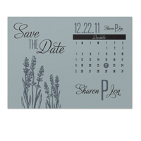 Lavender Calendar Save the Date