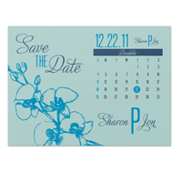 Orchid Calendar Save the Date