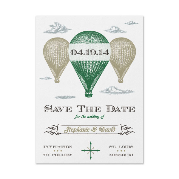 Hot Air Balloon - Save The Date -SAMPLE