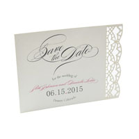 Art Deco Lace Laser Save the Date