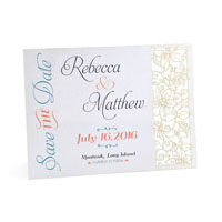 Delicate Flowers Laser Save the Date