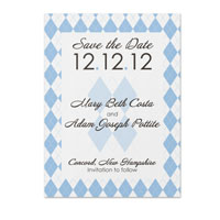 Argyle Pattern Save the Date