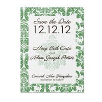 Damask Pattern Save the Date