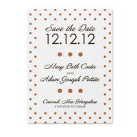 Dotty Pattern Save the Date