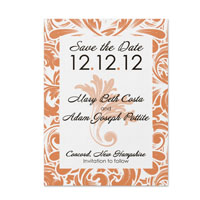 Flourish Pattern Save the Date