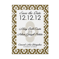 Flower Patch Pattern Save the Date