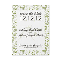 Grunge Swirl Pattern Save the Date