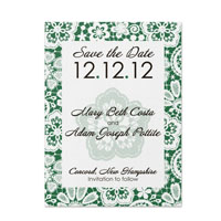 Lace Pattern Save the Date