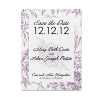 Ornate Flowers Pattern Save the Date