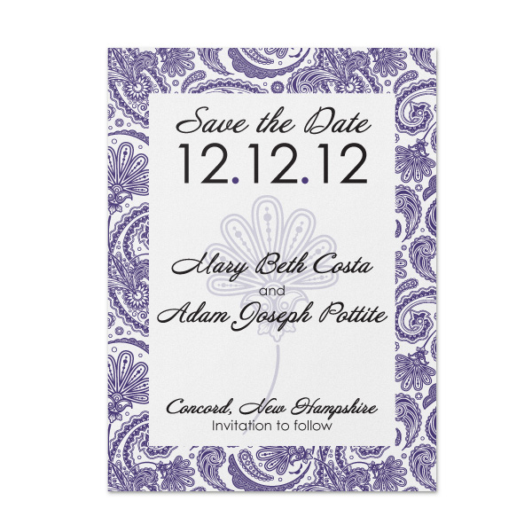 Save the date pattern cards pockets