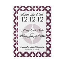 Retro Pattern Save the Date