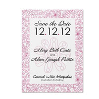 Sketchy Floral Pattern Save the Date