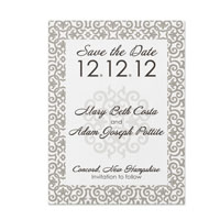 Tile Pattern Save the Date