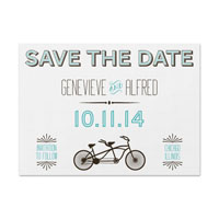 Tandem Bike Save the Date