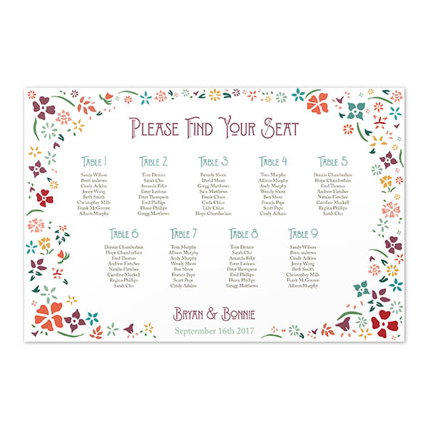 seating table chart