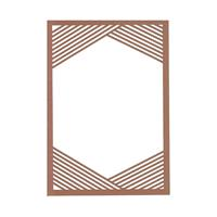 Geometric Lines Laser Invitation Frame