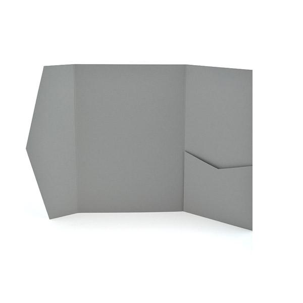 A7 Signature Pocket Invitation Real Grey