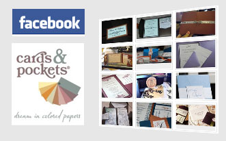 facebook logo, cards & pockets logo, photos of customer invitations