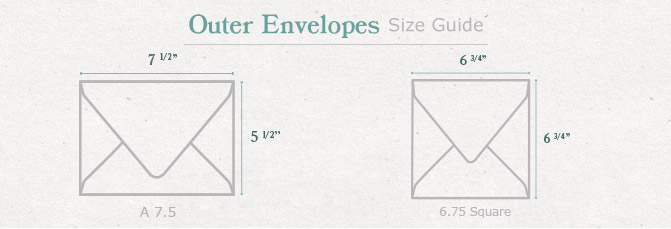 Outer Envelopes Size Guide